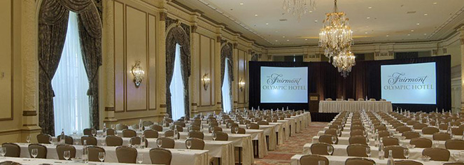 Meetings at      Fairmont Olympic Hotel  in Seattle