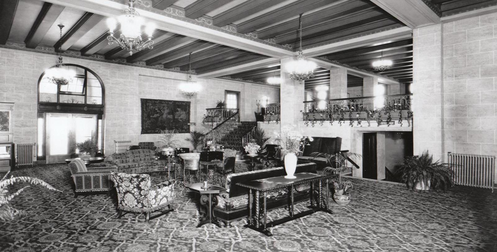 Image of Historic Lobby, Mayflower Park Hotel, Seattle, Washington, 1927, Member of Historic Hotels of America, Discover