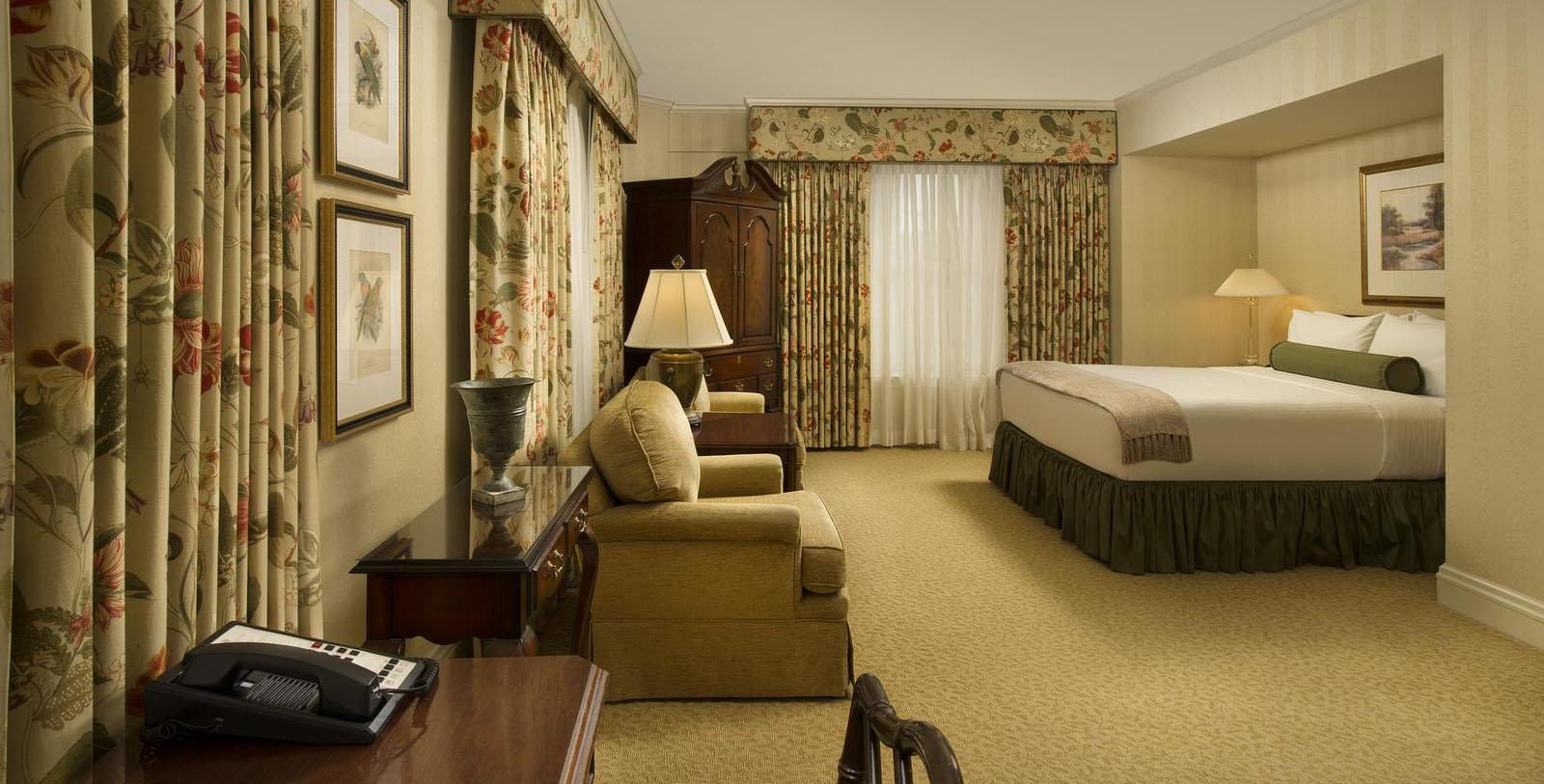 Image of Guestroom Interior, Mayflower Park Hotel, Seattle, Washington, 1927, Member of Historic Hotels of America, Location Map