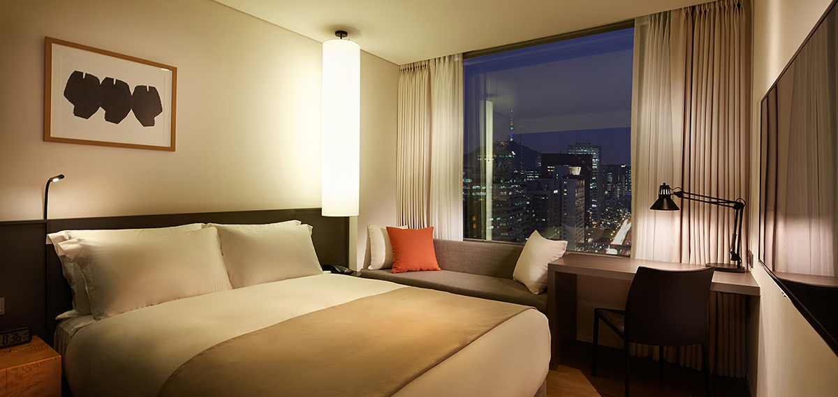 Accommodations:      Shilla Stay Gwanghwamun  in Seoul