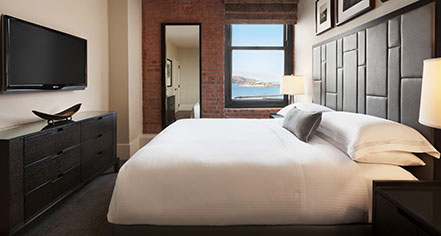 Accommodations:      Fairmont Heritage Place, Ghirardelli Square  in San Francisco