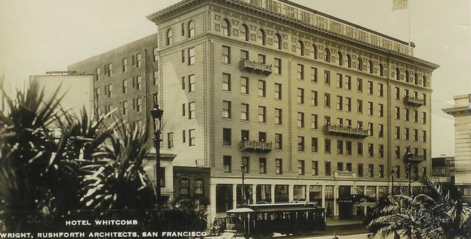 Image of Historic Exterior, Hotel Whitcomb in San Francisco, California, 1916, Member of Historic Hotels of America, Discover