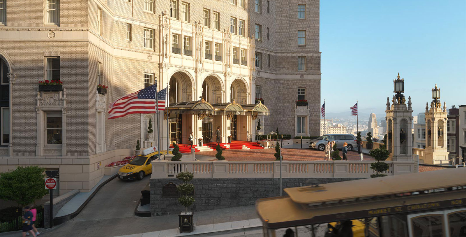 Image of Hotel Exterior, InterContinental Mark Hopkins Hotel in San Francisco, California, 1926, Member of Historic Hotels of America, Experience
