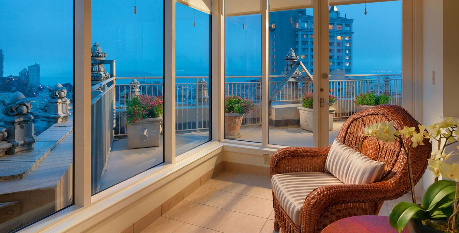 Image of Terrace suite, InterContinental Mark Hopkins Hotel in San Francisco, California, 1926, Member of Historic Hotels of America, Explore