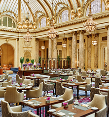 Dining at      Palace Hotel  in San Francisco