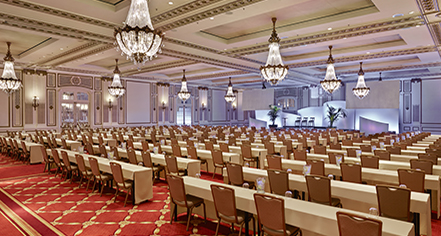 Meetings at      Palace Hotel  in San Francisco