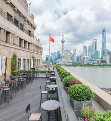 Dining at      Fairmont Peace Hotel  in Shanghai