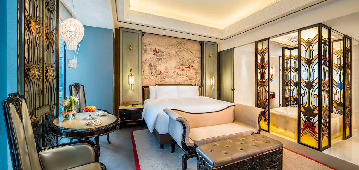 Accommodations:      Wanda Reign on the Bund  in Shanghai