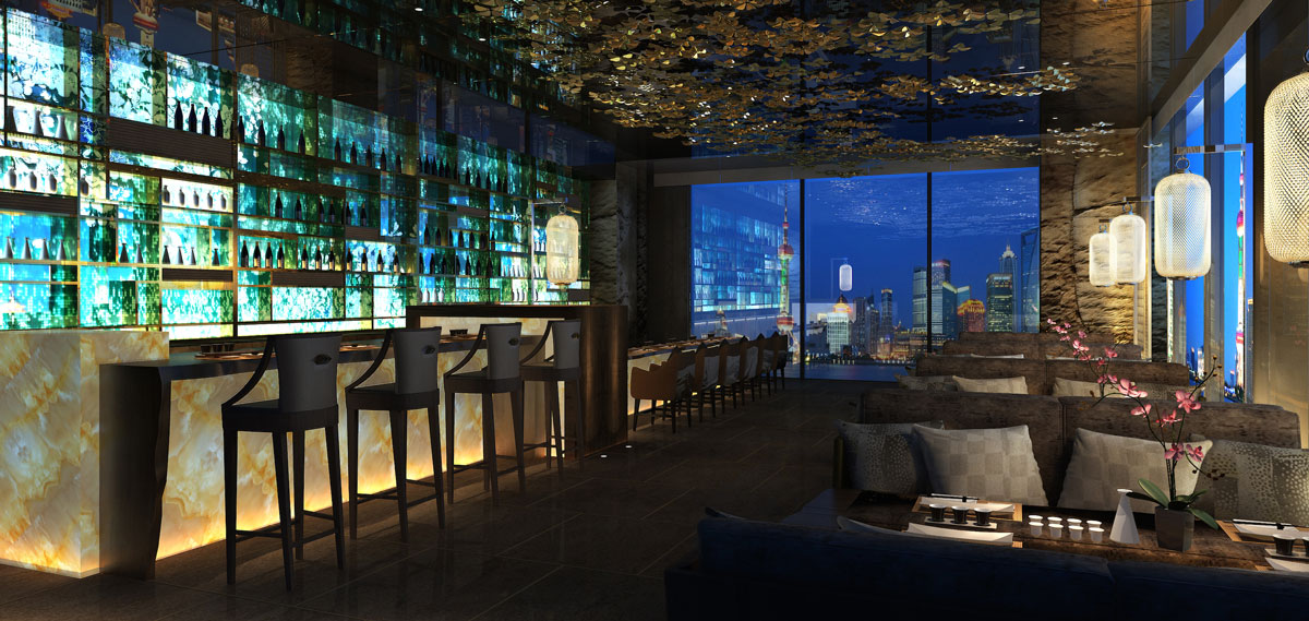 Dining:      Wanda Reign on the Bund  in Shanghai
