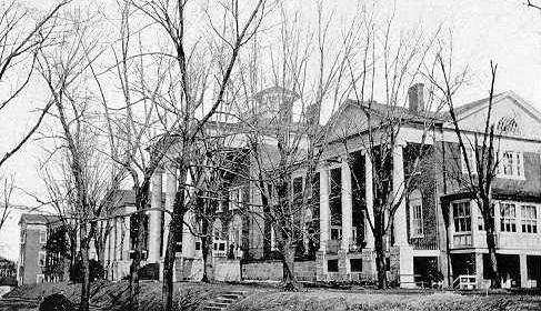 Historical Image of Exterior, Blackburn Inn & Conference Center, 1828, Member of Historic Hotels of America, in Staunton, Virginia.