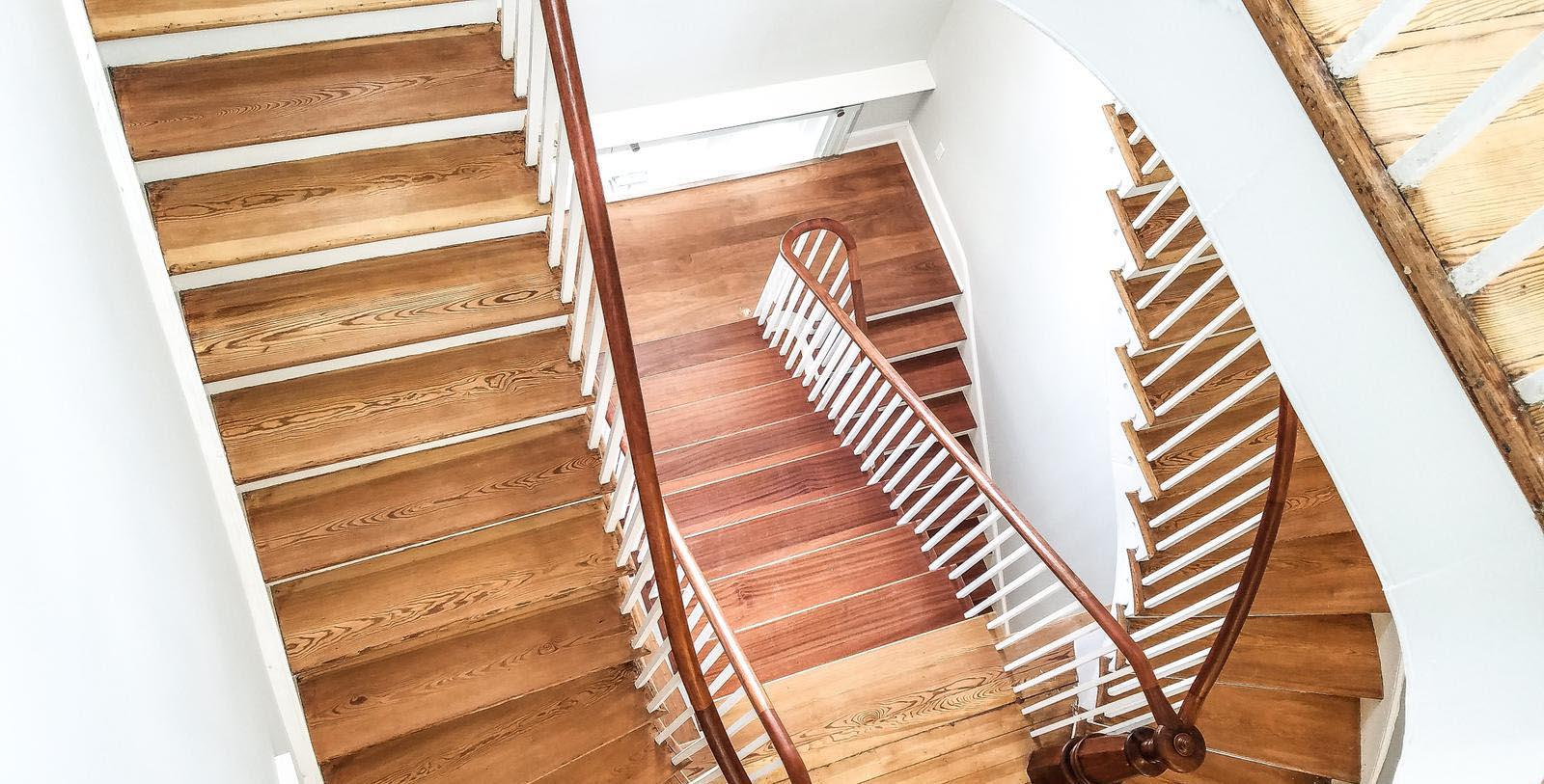 Image of Staircases at Blackburn Inn, 1828, Member of Historic Hotels of America, in Staunton, Virginia, Discover