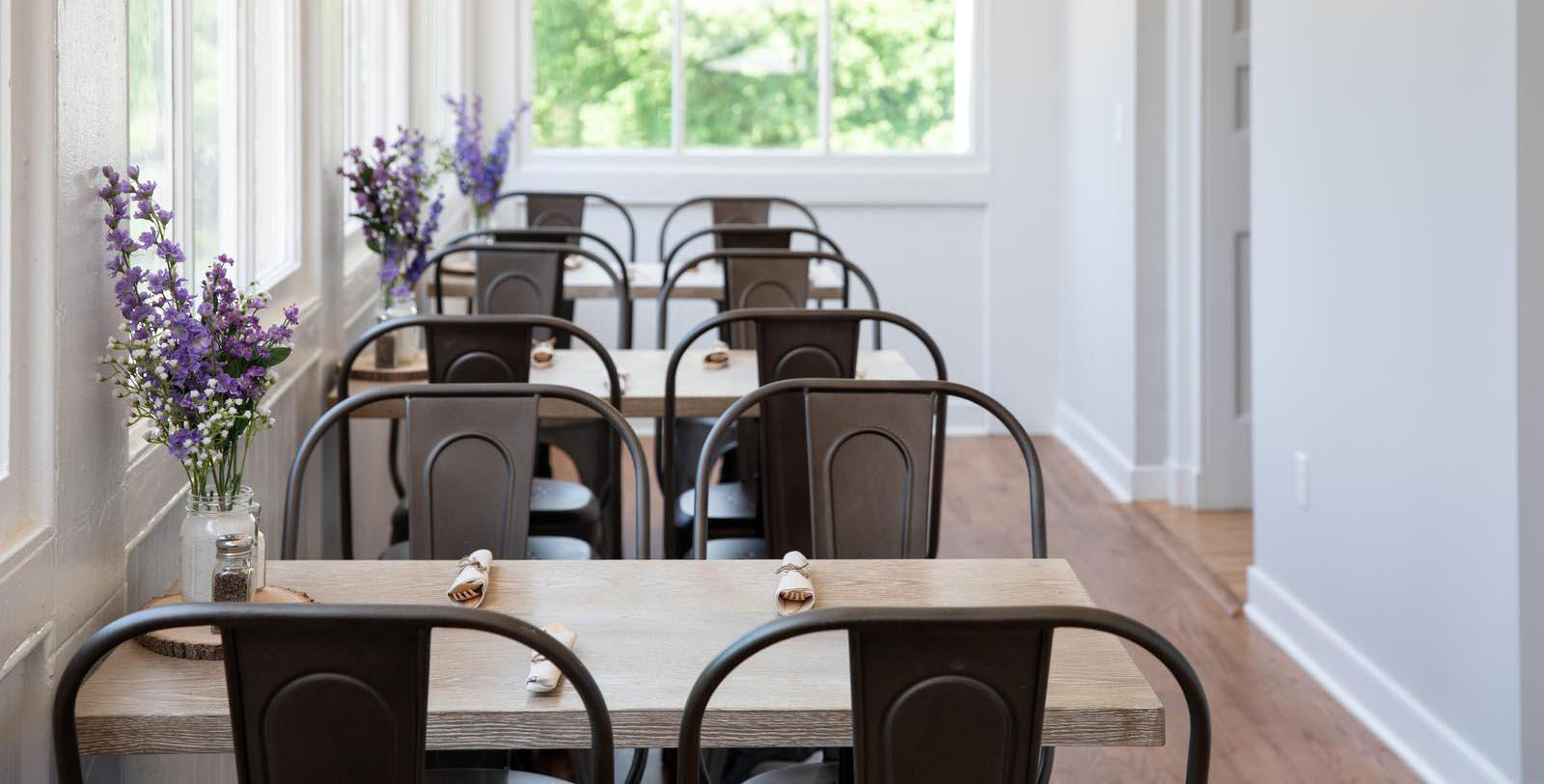 Image of tables at Second Draft Bistro at Blackburn Inn, 1828, Member of Historic Hotels of America, in Staunton, Virginia, Taste