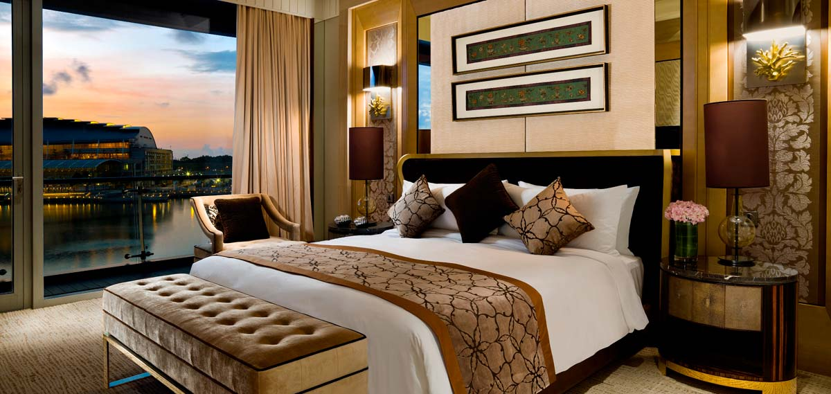 Accommodations:      The Fullerton Bay Hotel  in Singapore
