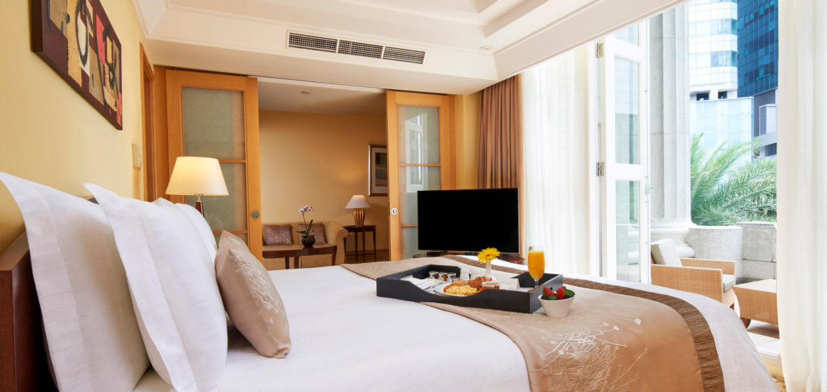 Accommodations:      The Fullerton Hotel Singapore  in Singapore