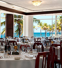 Dining at      Caribe Hilton  in San Juan