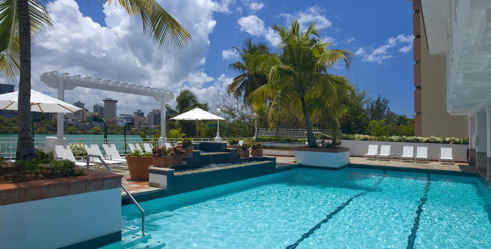 Image of Pool The Condado Plaza Hilton, 1963, Member of Historic Hotels of America, in San Juan, Puerto, Rico, Hot Deals