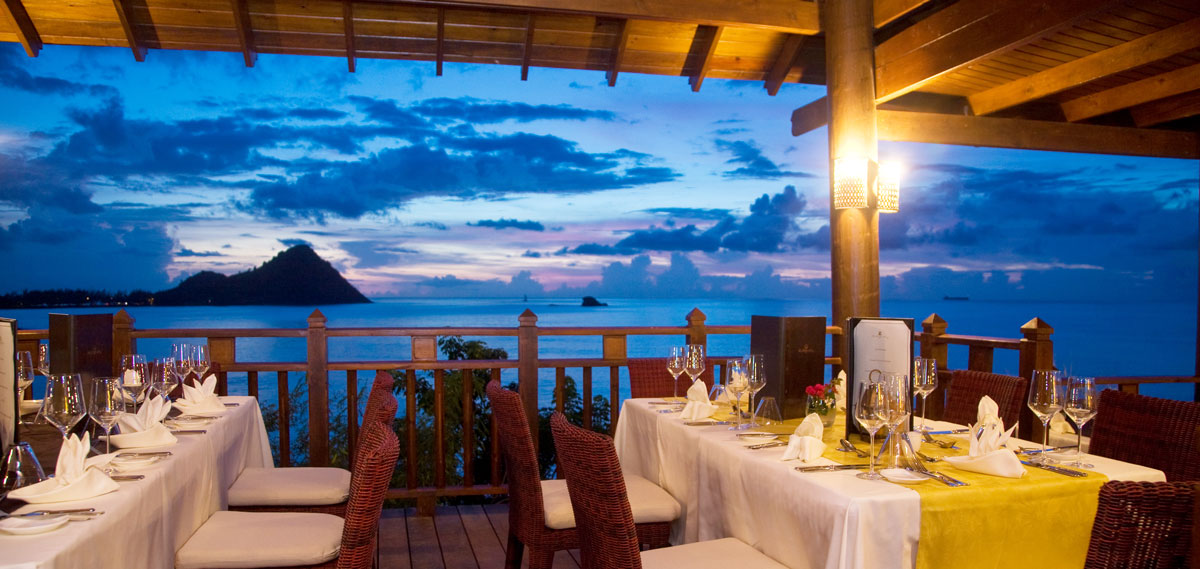 Dining:      Cap Maison Resort & Spa  in gros islet