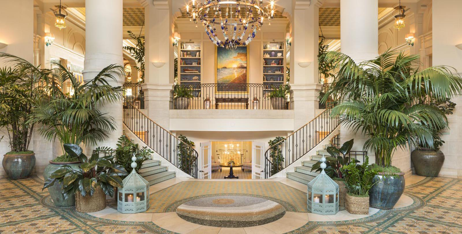 Image of Lobby Staircase, Hotel Casa del Mar in Santa Monica, California, 1926, Member of Historic Hotels of America, Special Offers, Discounted Rates, Families, Romantic Escape, Honeymoons, Anniversaries, Reunions