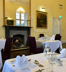 Dining at      Kinnitty Castle Hotel  in Birr