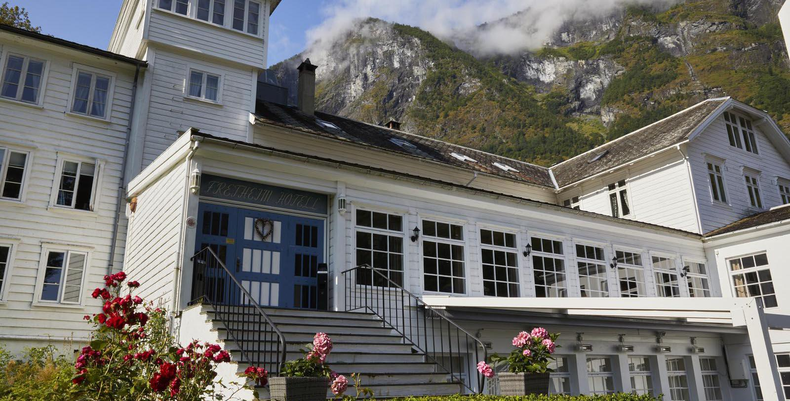 Image of Fretheim Hotel, Hotel Exterior, Flam, Norway, 1870, Member of Historic Hotels Worldwide, Special Offers, Discounted Rates, Families, Romantic Escape, Honeymoons, Anniversaries, Reunions