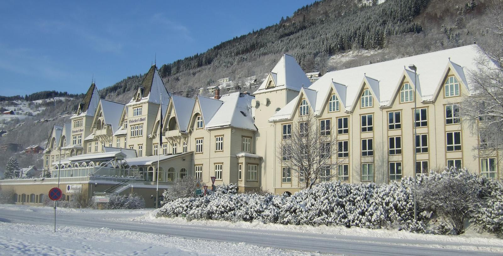Image of Hotel Exterior Fleischer's Hotel, 1864, Member of Historic Hotels Worldwide, in Voss, Norway, Discover