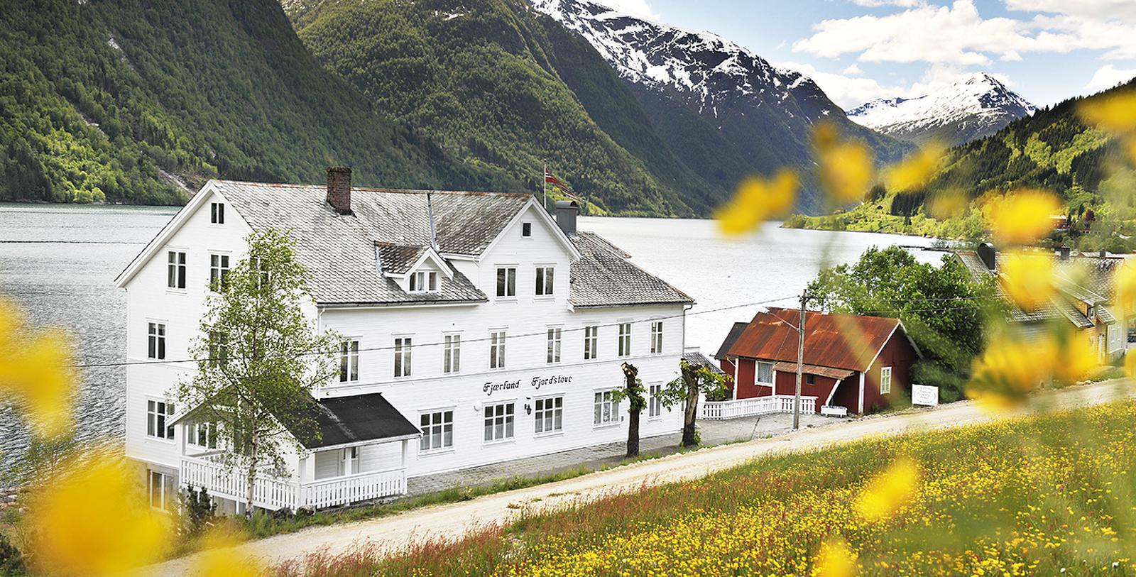 Image of Mountain Landscape Fjaerland Fjordstove Hotel & Restaurant, 1937, Member of Historic Hotels Worldwide, in Fjærland, Norway, Experience