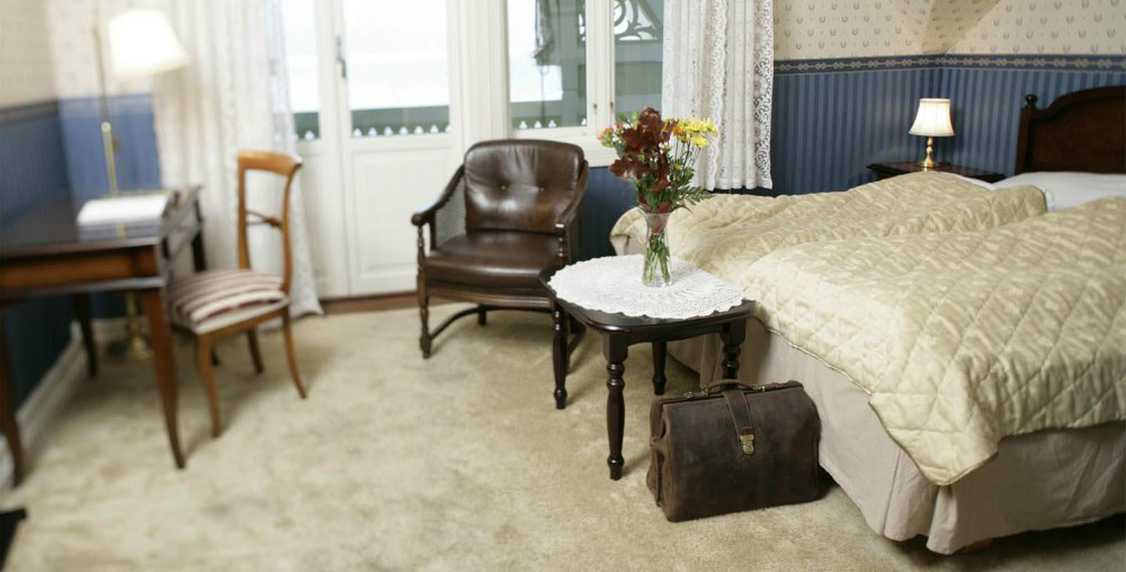 Image of Guestroom Interior Kviknes Hotel, 1752, Member of Historic Hotels Worldwide, in Balestrand, Norway, Location