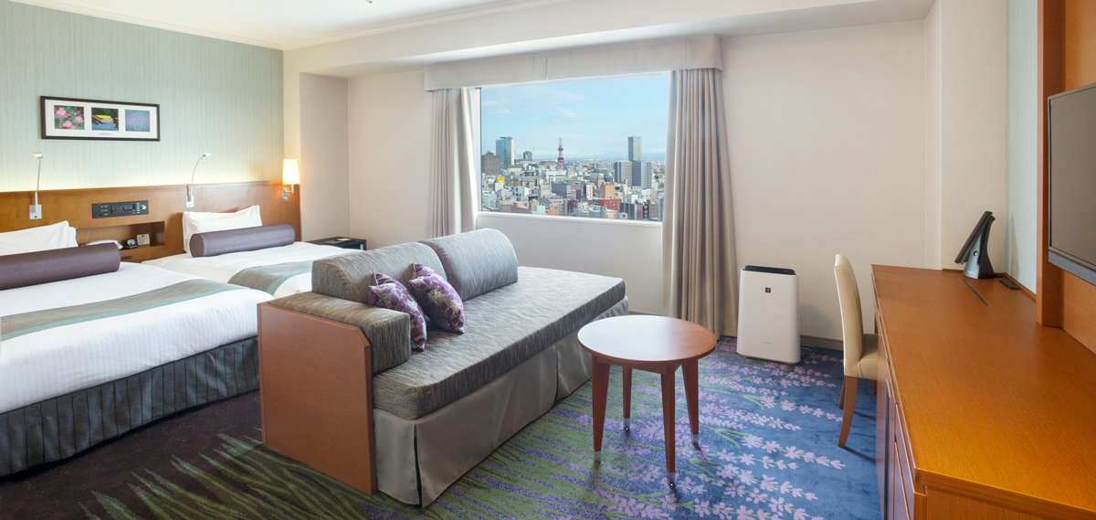 Accommodations:      Sapporo Excel Hotel Tokyu  in Sapporo