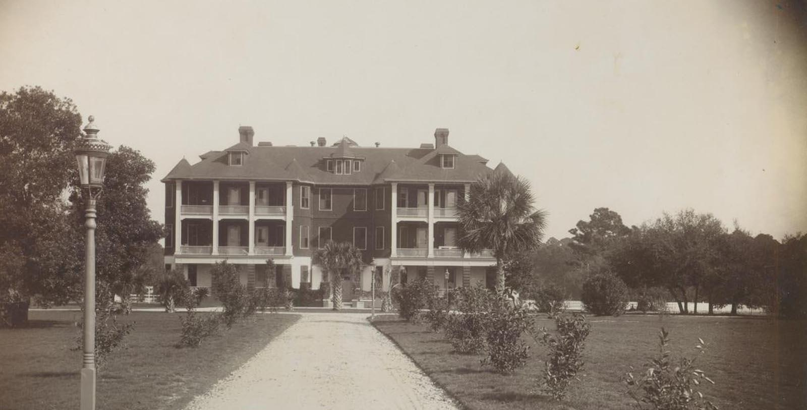 Image of Historic Exterior, Jekyll Island Club Resort in Jekyll Island, Georgia, 1886, Member of Historic Hotels of America, Discover