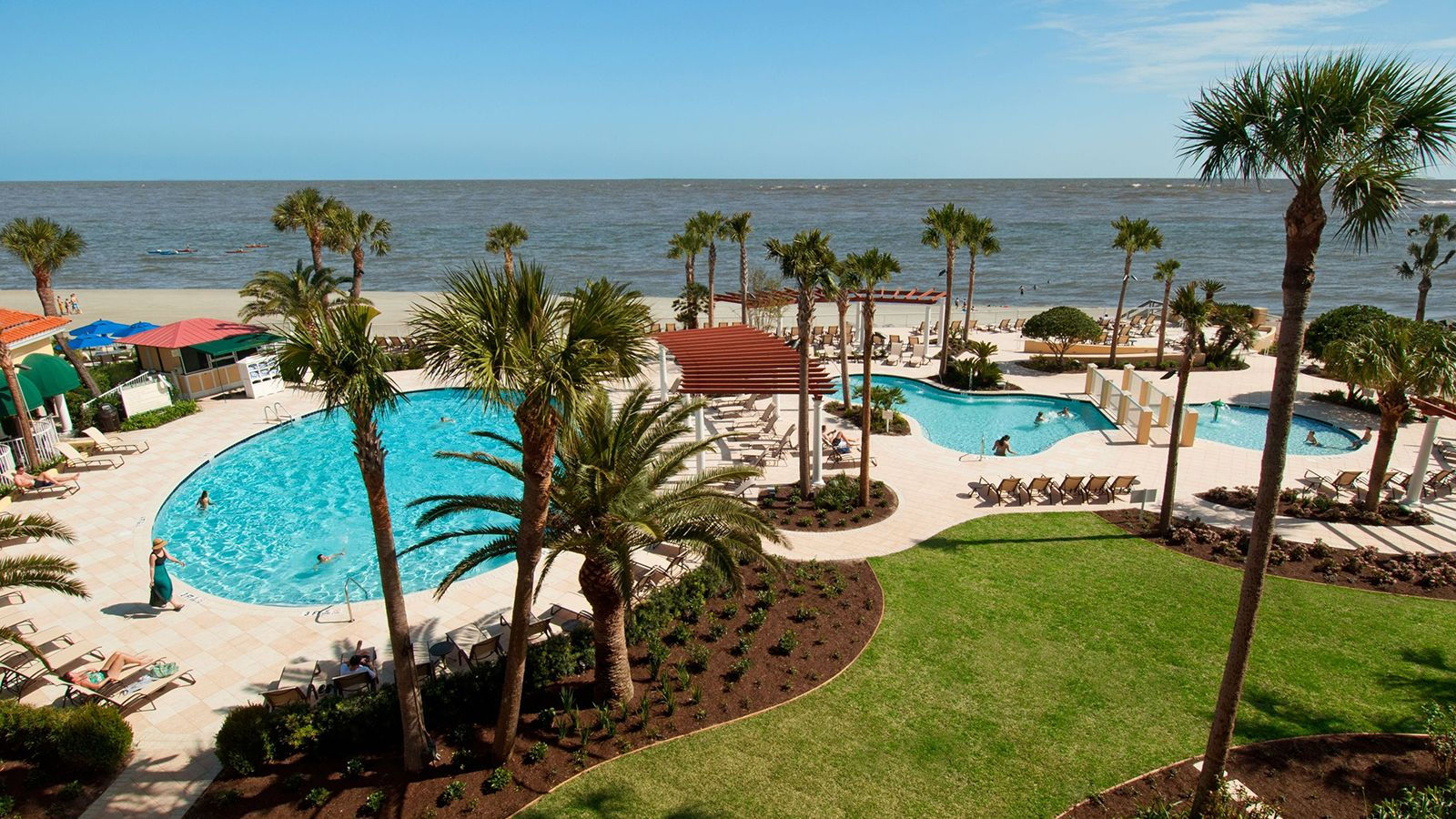 Image of Swimming Pool Oceanfront The King and Prince Beach and Golf Resort St. Simons Island Georgia