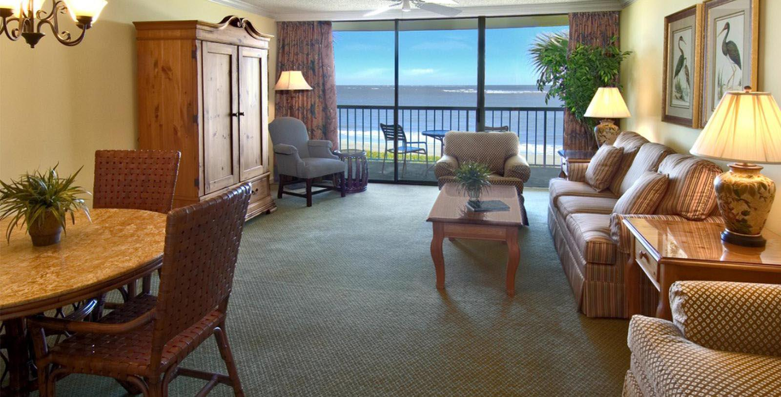 Image of Suite Living Area at The King and Prince Beach and Golf Resort, 1935, Member of Historic Hotels of America, on St. Simons Island, Georgia, Explore
