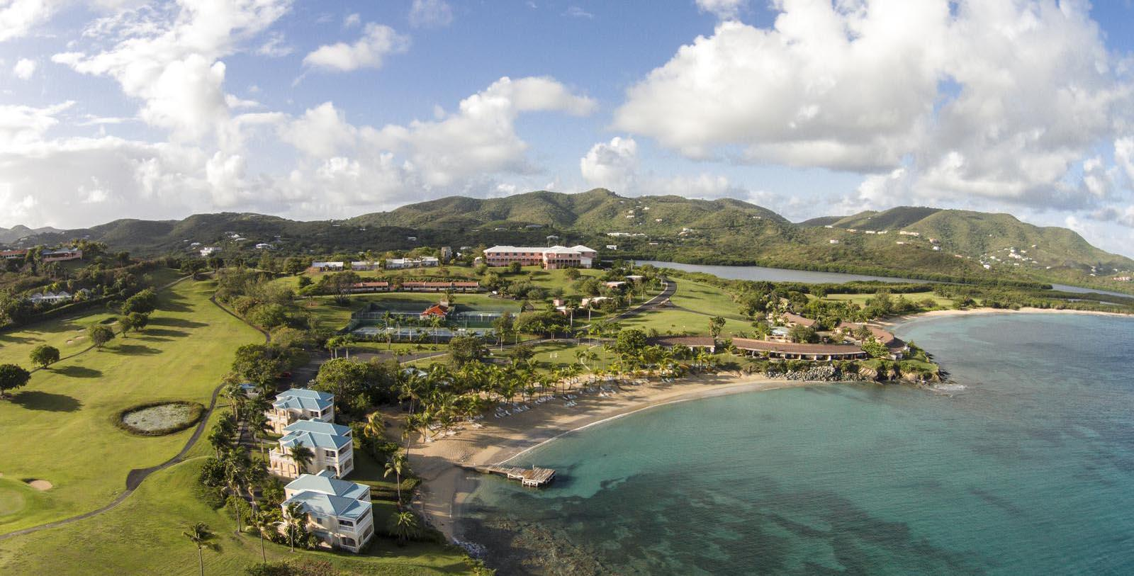Image of Aerial Exterior View The Buccaneer, 1653, Member of Historic Hotels of America, in Christiansted, U.S. Virgin Islands, Special Offers, Discounted Rates, Families, Romantic Escape, Honeymoons, Anniversaries, Reunions