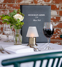 Dining at      Beekman Arms and Delamater Inn  in Rhinebeck