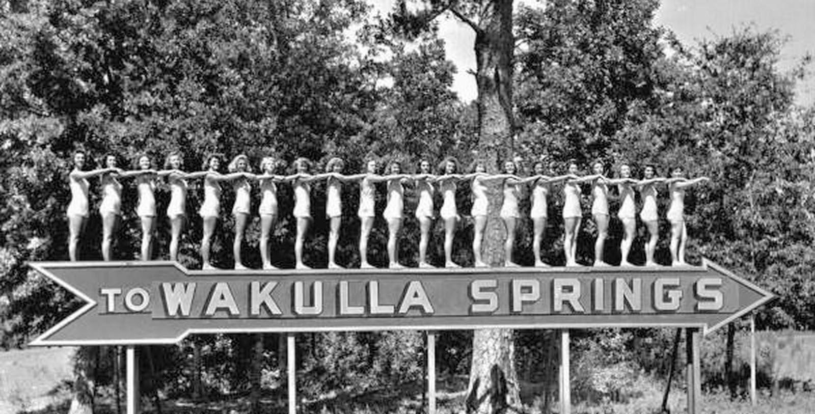 Historic Image of Women Outside The Lodge at Wakulla Springs, 1937, Member of Historic Hotels of America, in Wakulla Springs, Florida, Discover
