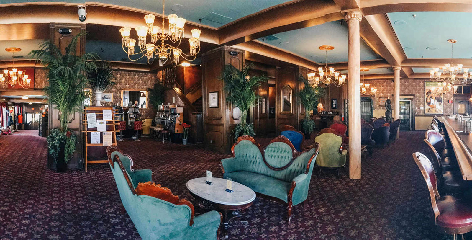 Image of Lobby Seating, Mizpah Hotel in Topah, Nevada, 1907, Member of Historic Hotels of America, Overview
