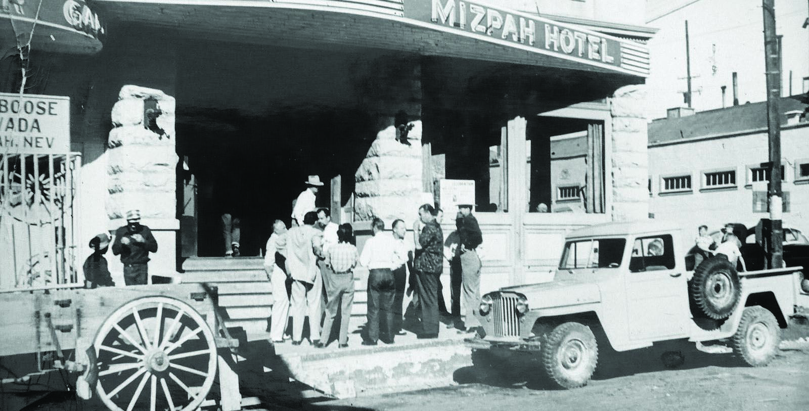 Image of Historic Exterior, Mizpah Hotel in Topah, Nevada, 1907, Member of Historic Hotels of America, Discover