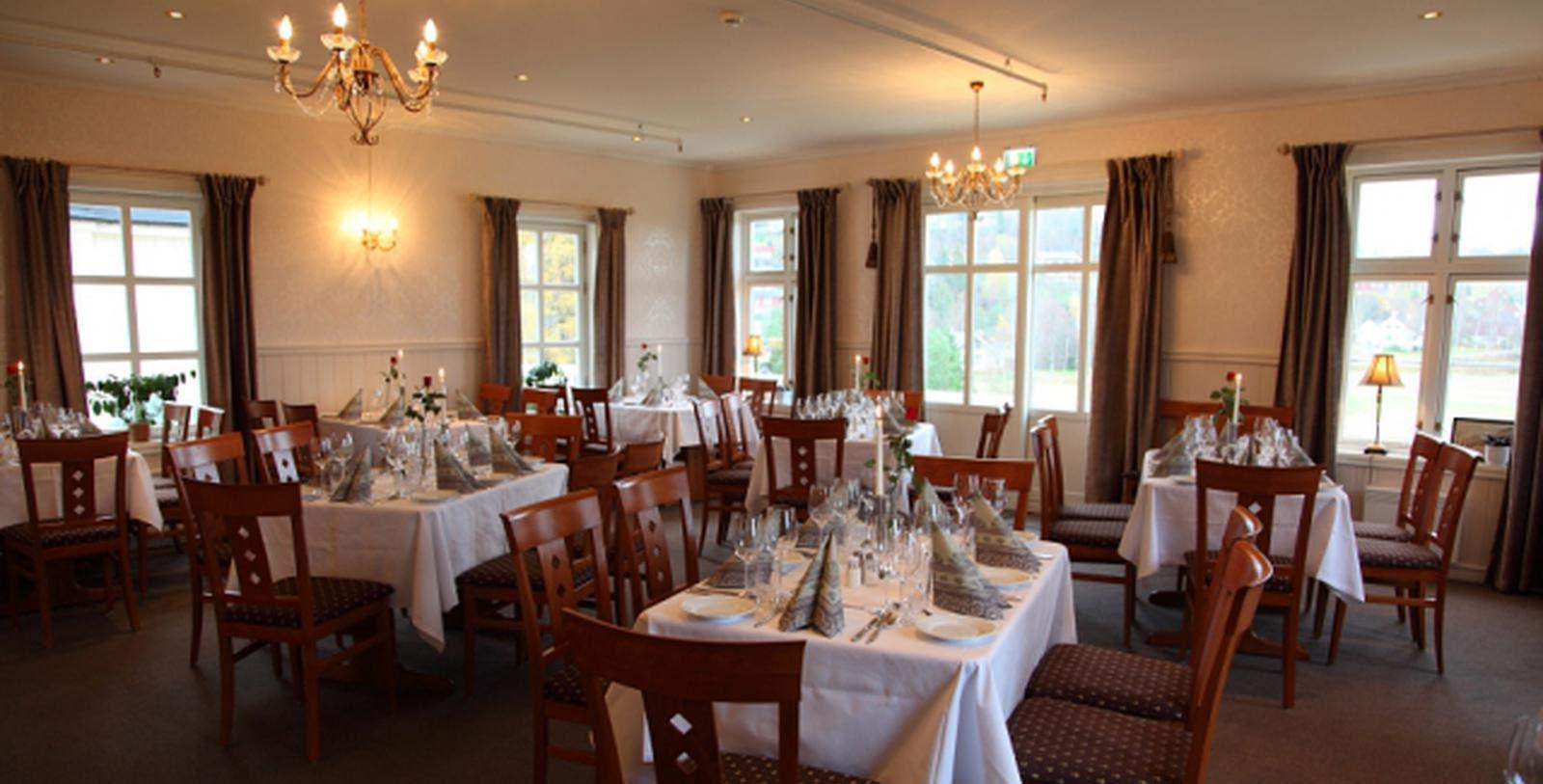 Image of Dining Room at Selbusjoen Hotel & Gjestegard, 1850, Member of Historic Hotels Worldwide, in Selbu, Norway, Taste
