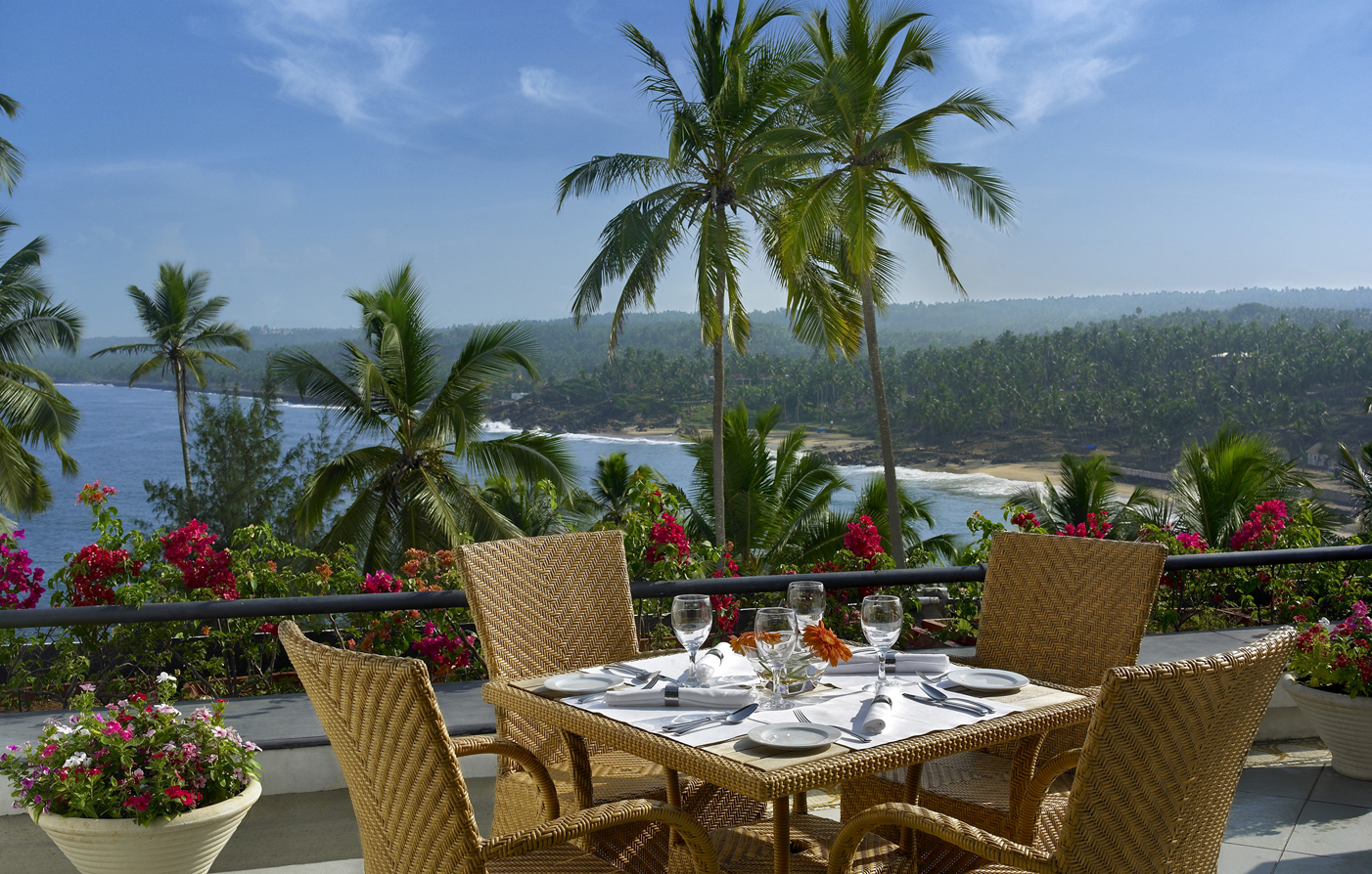 Dining:      The Leela Kovalam Beach  in Trivandrum