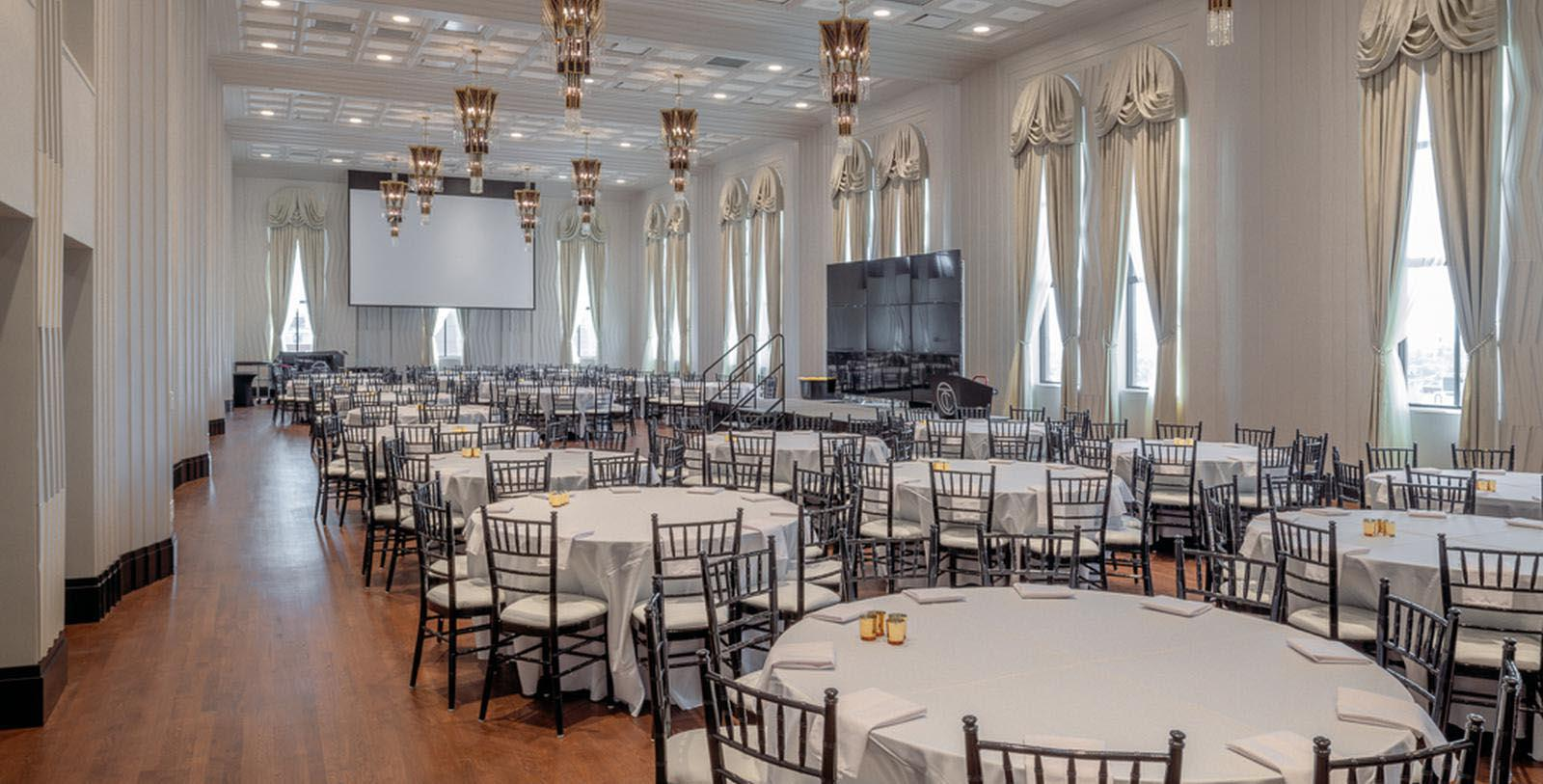 Image of ballroom set up for wedding reception Tulsa Club Hotel, Curio Collection by Hilton, 1927, Member of Historic Hotels of America, in Tulsa, Oklahoma, Experience