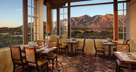 Dining at      Hacienda Del Sol Guest Ranch Resort  in Tucson