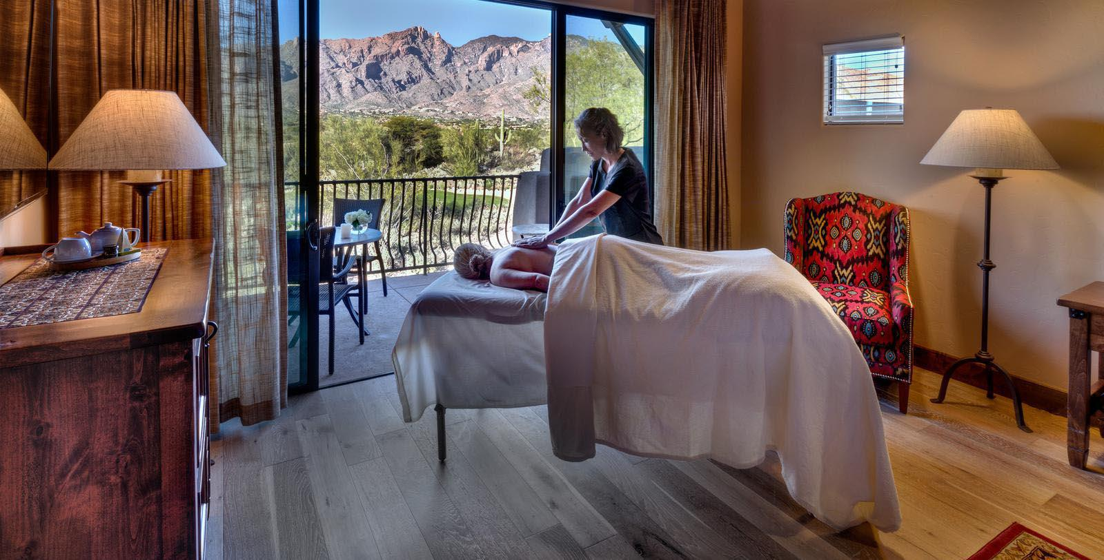 Image of spa massage Hacienda Del Sol Guest Ranch Resort, 1929, Member of Historic Hotels of America, in Tuscan, Arizona, Explore
