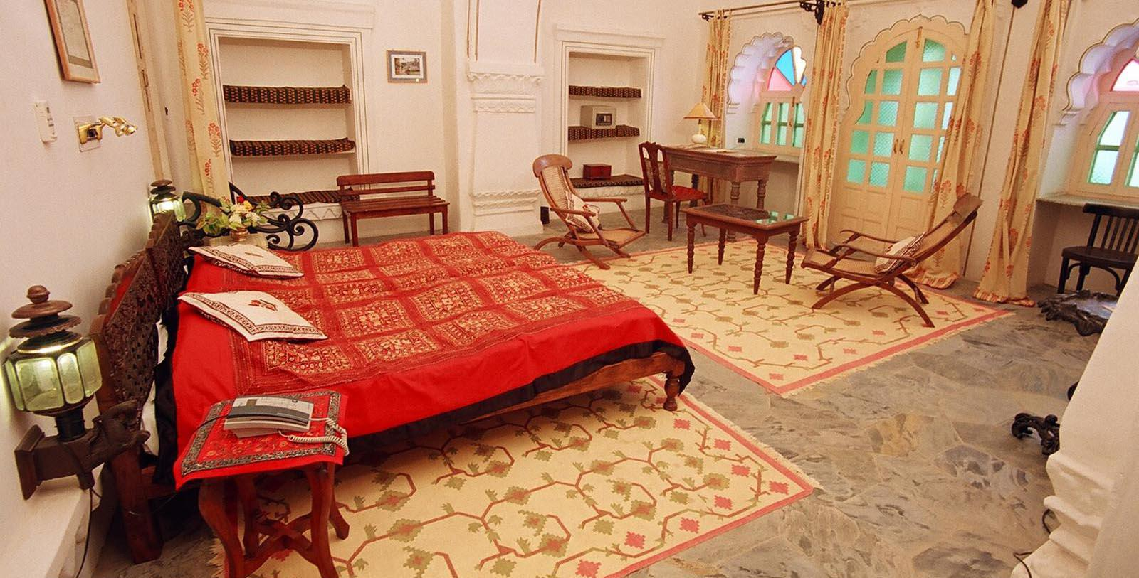 Image of guestroom Deogarh Mahal, 1670, Member of Historic Hotels Worldwide, in Deogarh, India, Location Map