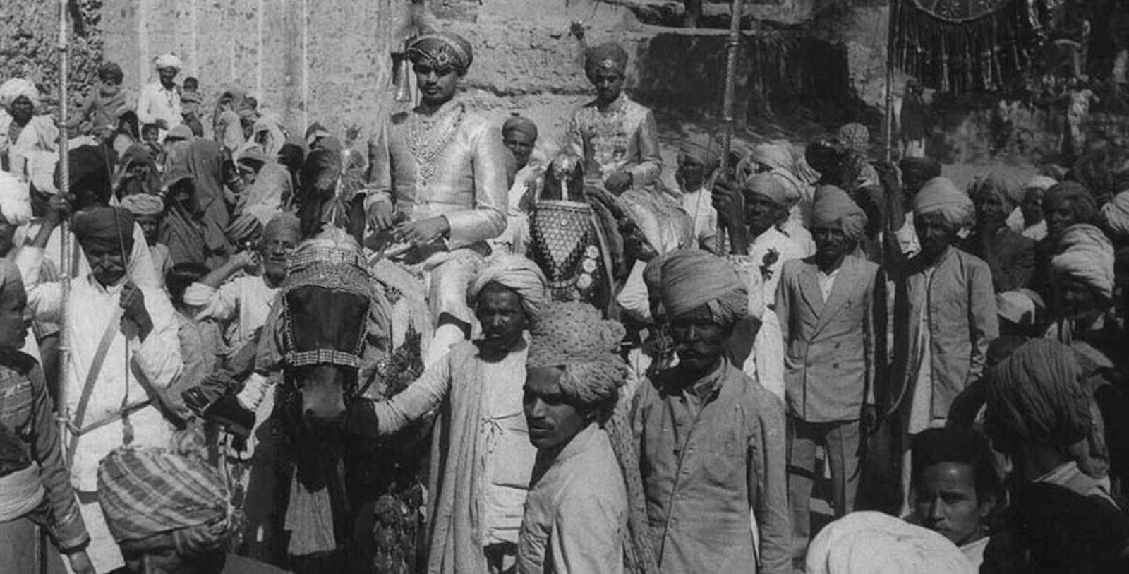 Historic image of people at Deogarh Mahal, 1670, Member of Historic Hotels Worldwide, in Deogarh, India, Discover