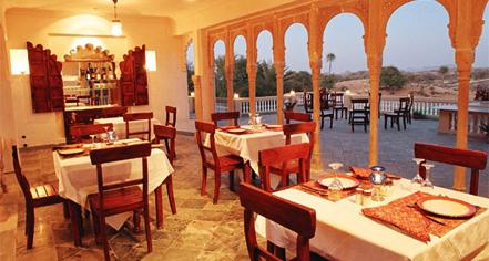 Dining at      Fort Seengh Sagar  in Deogarh