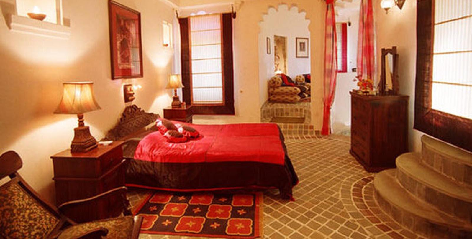 Image of Guestroom Interior Fort Seengh Sagar, 1670, Member of Historic Hotels Worldwide, in Deogarh, India, Location