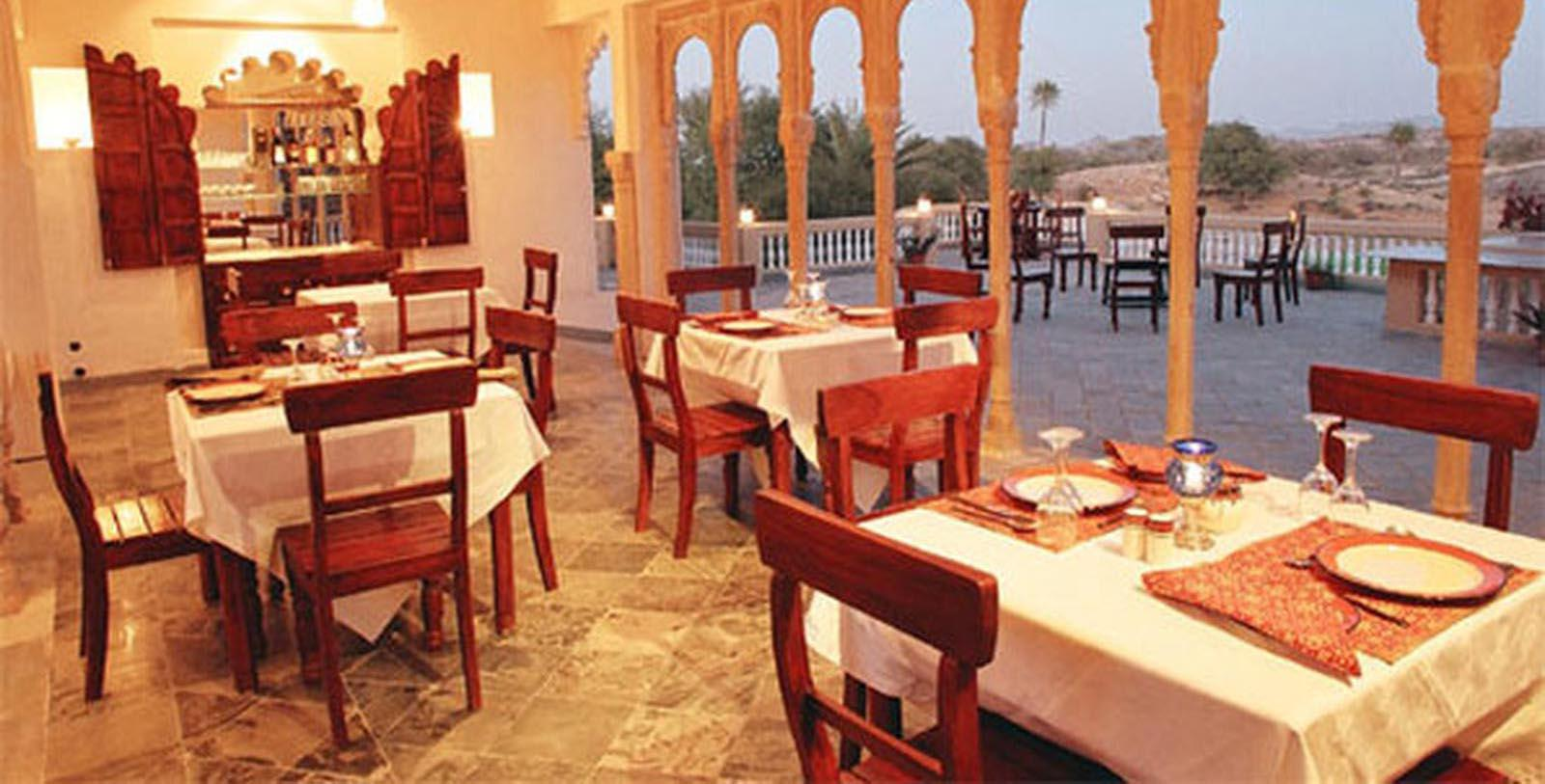 Image of Dining Area Fort Seengh Sagar, 1670, Member of Historic Hotels Worldwide, in Deogarh, India, Taste
