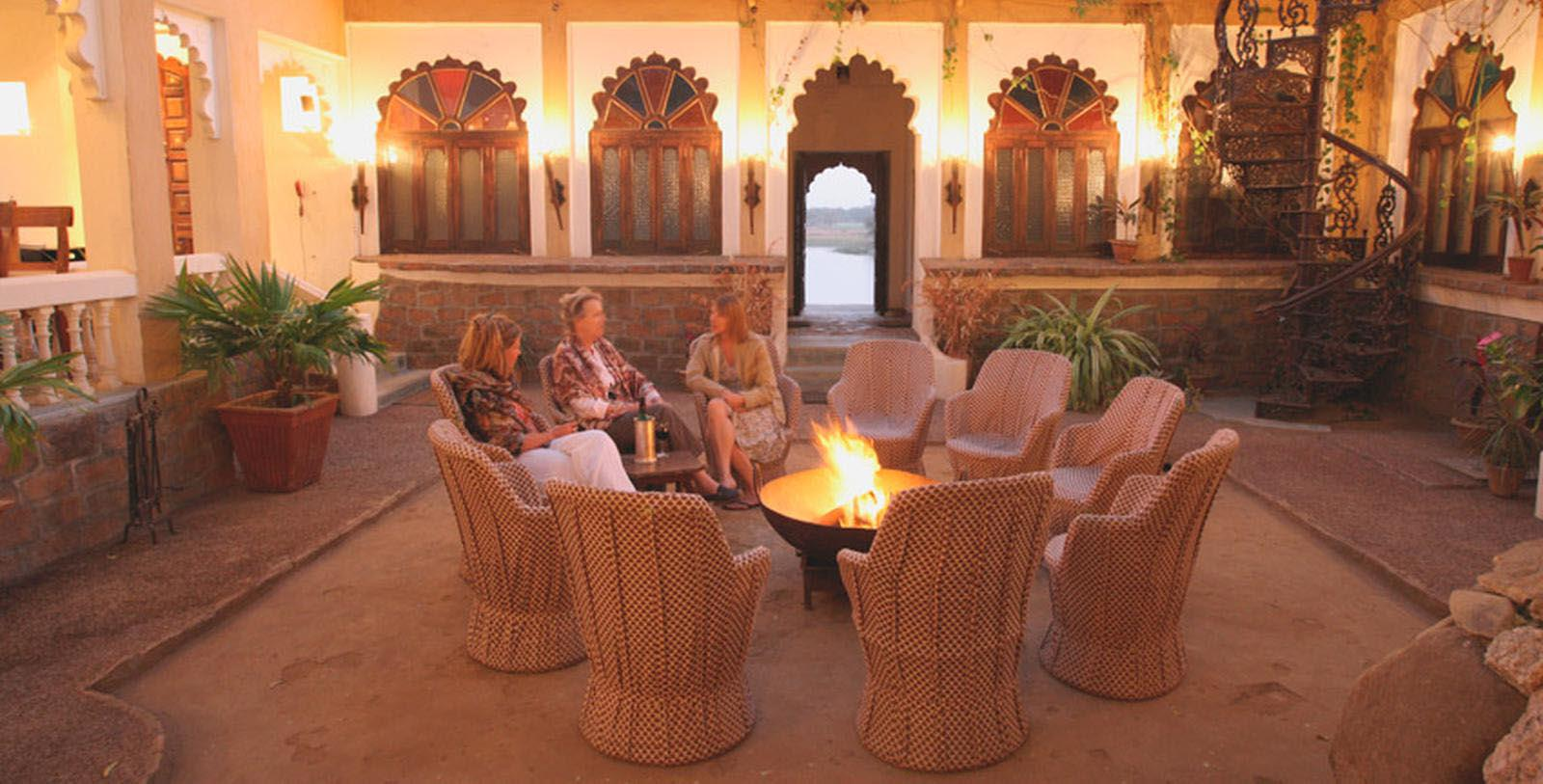 Image of Lounge Area Fort Seengh Sagar, 1670, Member of Historic Hotels Worldwide, in Deogarh, India, Explore