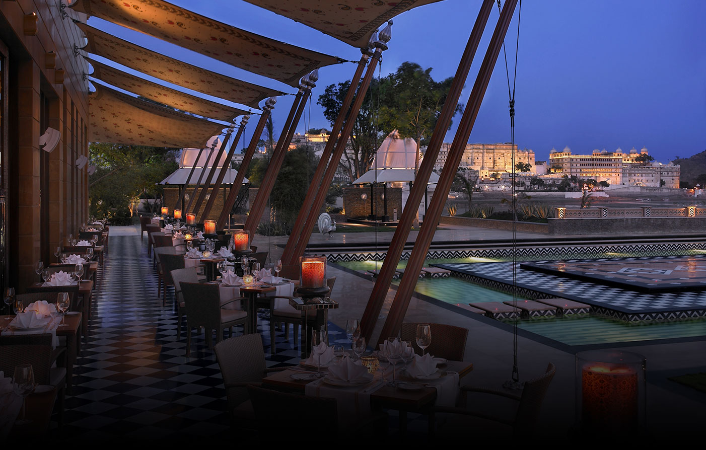 Dining:      The Leela Palace Udaipur  in Udaipur