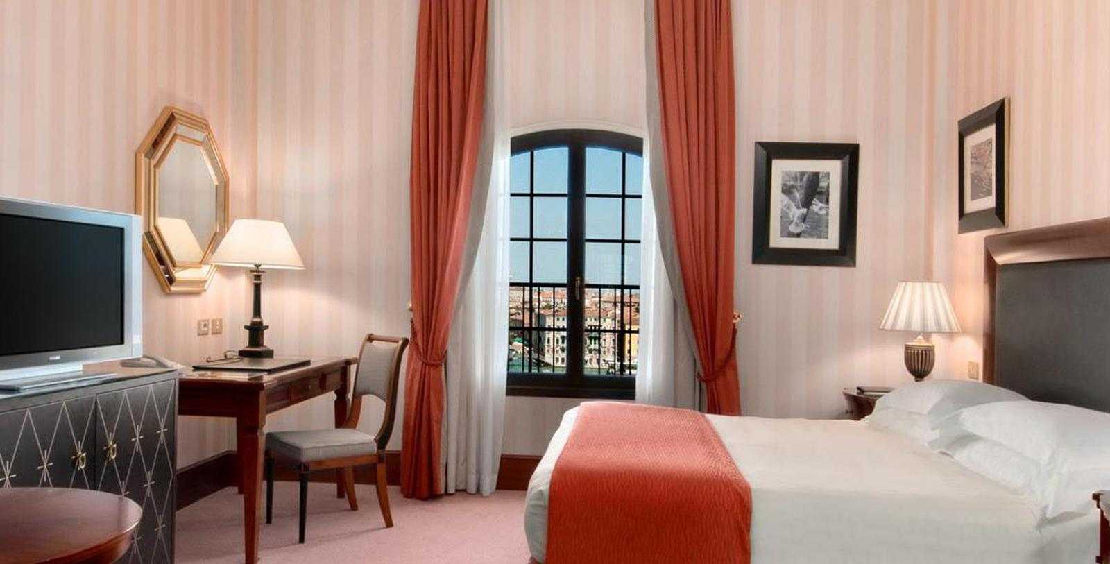 Image of Guestroom Interior, Hilton Molino Stucky Venice, Italy, 1884, Member of Historic Hotels Worldwide, Location Map