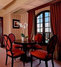 Accommodations:      Hilton Molino Stucky Venice  in Venice